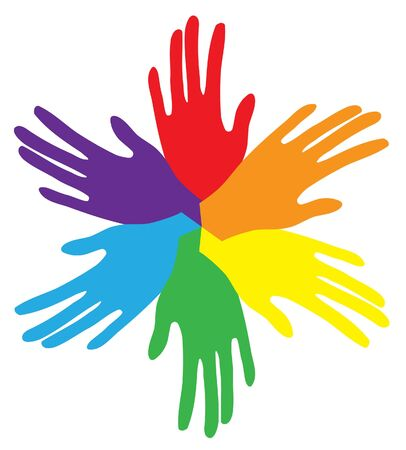 vector coloful hands