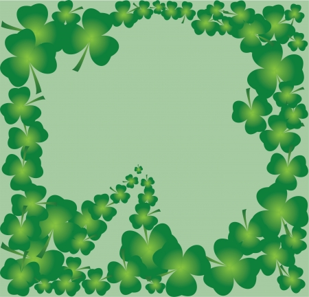 vector clover frame for St  Patrick day Illustration