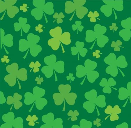 vector clover leaf background for St  Patrick day Vector