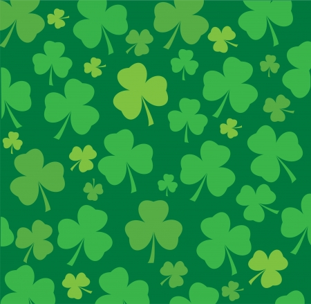vector clover leaf background for St  Patrick day Stock Vector - 17248596