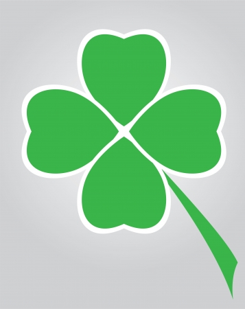 vector clover leaf for St  Patrick day Vector