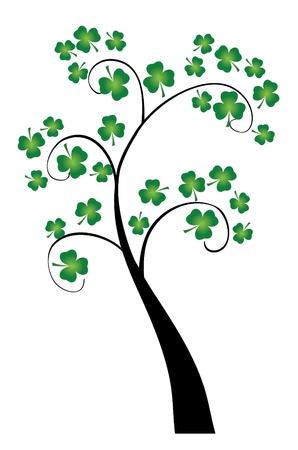 vector clover tree for St  Patrick day Illustration
