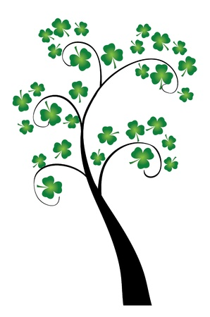vector clover tree for St  Patrick day Vettoriali