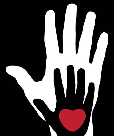 vector hands with heart Vector