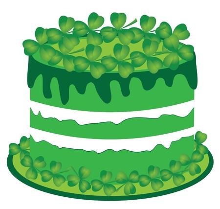 cake with shamrock Stock Vector - 18093657