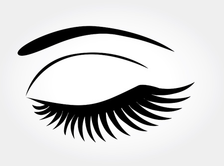 vector eye with long lashes Ilustracja