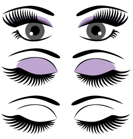 brow: vettore occhi con ciglia lunghe