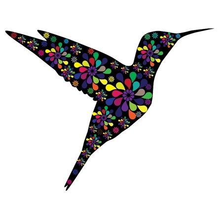 humming: vector hummingbird