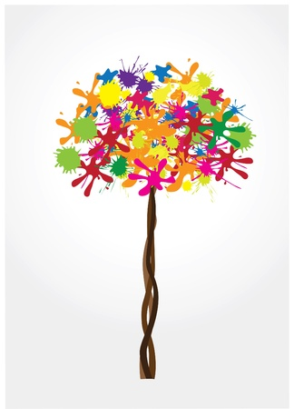 paint splat: vector ink tree