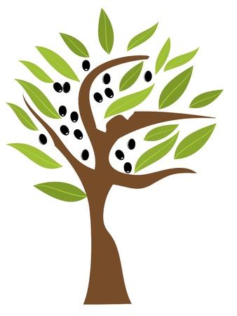 벡터 올리브 나무 일러스트