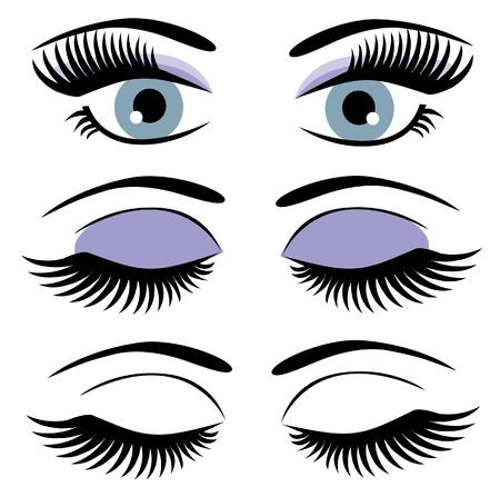 ogen met lange wimpers