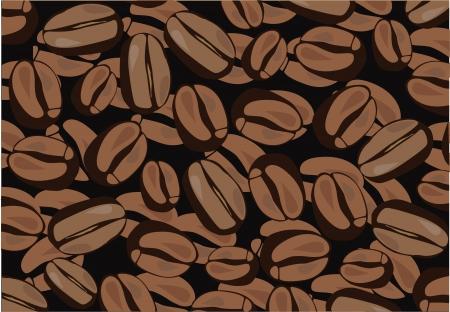 Vektor-Kaffee-Hintergrund  Standard-Bild - 21336777