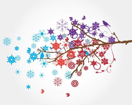 holiday celebrations: snow branch