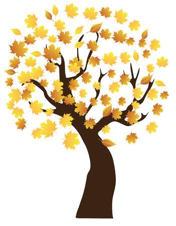 saturate: vector autumn tree