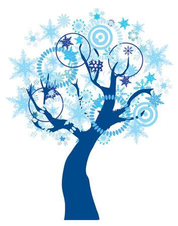 vector snow tree