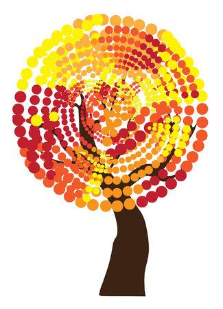 arbre automne: arbre automne vecteur