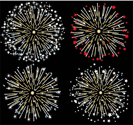 star burst: vector firework background Illustration