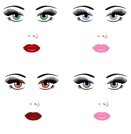 vector different make up
