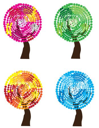 season: vector season trees