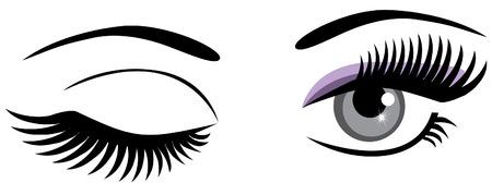 Knipogend ogen