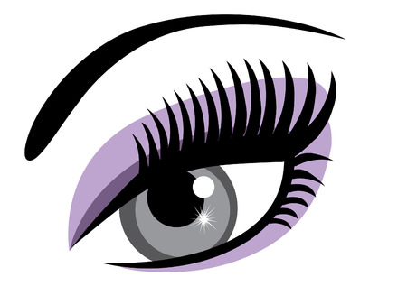 eyelid: vector blue eye Illustration