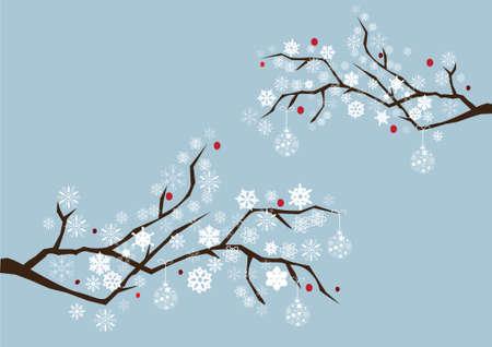 vector snow branches Ilustração