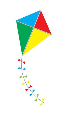paper kite: vector kite isolated on white