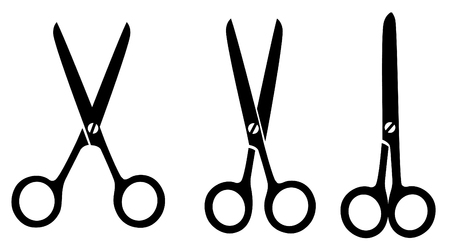 haircutting: vector scissors