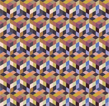 vector abstract block seamless background Ilustração