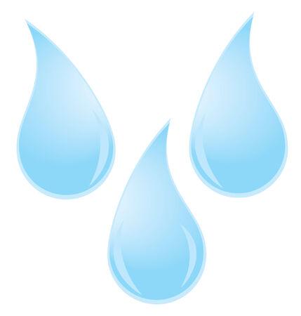 Vector waterdruppels Stock Illustratie