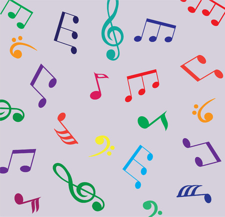 vector musical notes background Vector