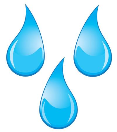 gotas de agua: el agua cae vector Vectores