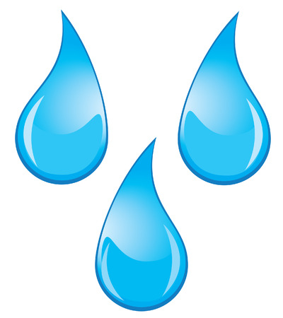 rain drop: vector water drops