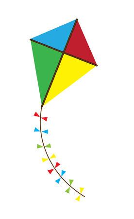 vector colorful kite Ilustração