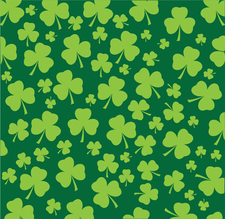good nature: vector shamrock seamless background Illustration