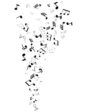 vector musical notes background Illustration