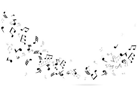 sheet music: vector musical notes background Illustration