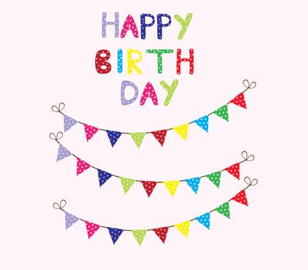 Vector Bunting Birthday Card Royalty Free Cliparts Vectors And