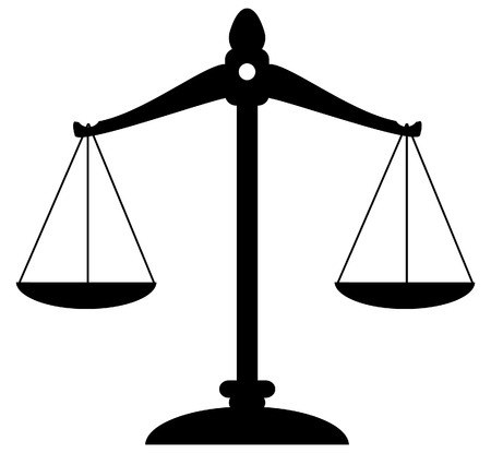 scale icon: vector scale of justice Illustration