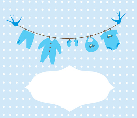 vector newborn baby clothes Vector