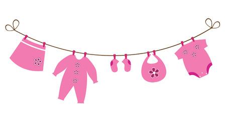 Neugeborene Baby-Kleidung Standard-Bild - 28498925