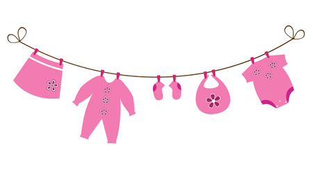 clothes hanging: newborn baby clothes