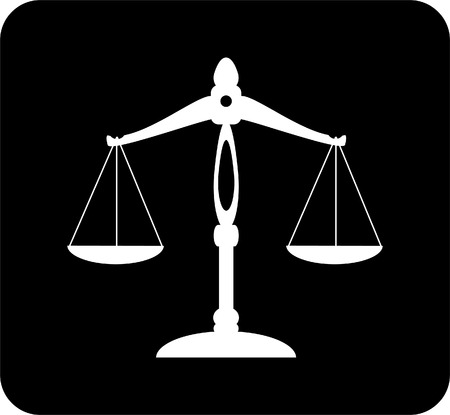 justice scale: scale of justice Illustration