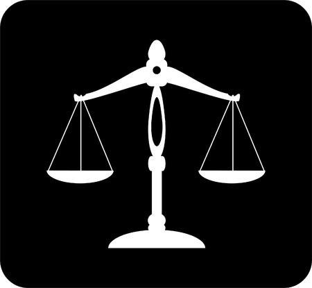 schaal van rechtvaardigheid