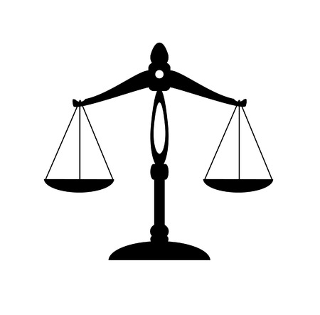 scale of justice: scale of justice Illustration
