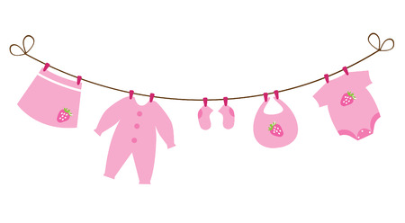 newborn baby girl clothes with strawberries