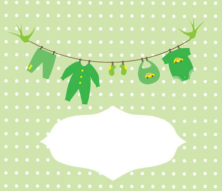 newborn baby clothes Vector