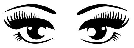 black eyes: occhi neri con ciglia lunghe