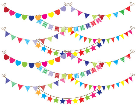 event party festive: bunting Illustration