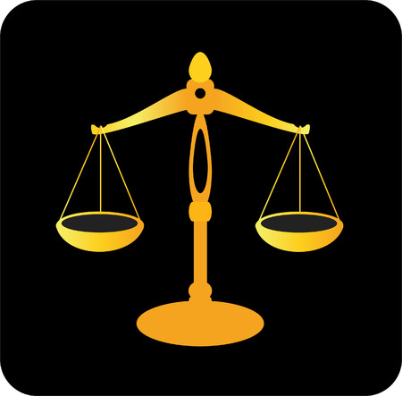 justice scale: golden scale of justice